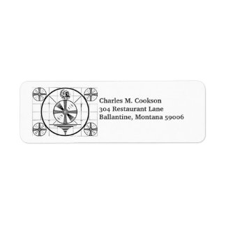 Indian Head Television Test Pattern Return Address Label