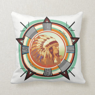 Indian Head Test Pattern Customizable Cushion
