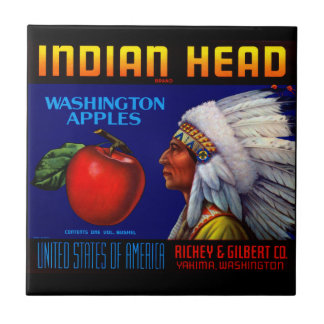 Indian Head Washington Apples Tile