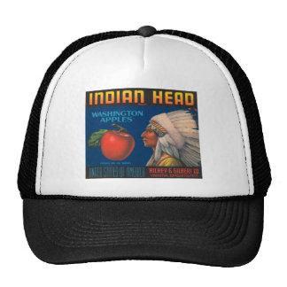 Indian Head Washington Apples Vintage Ad Cap