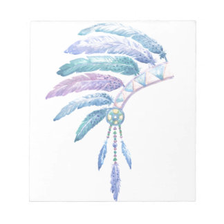 Indian Headdress in Watercolour Notepad