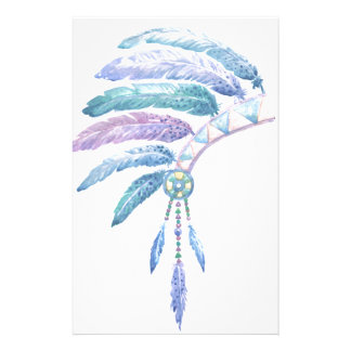 Indian Headdress in Watercolour Stationery