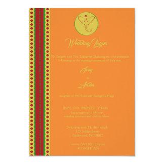 Indian Hindu Ganesh Wedding Invite Garba Mehndi