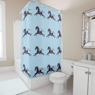 Indian horse shower curtain