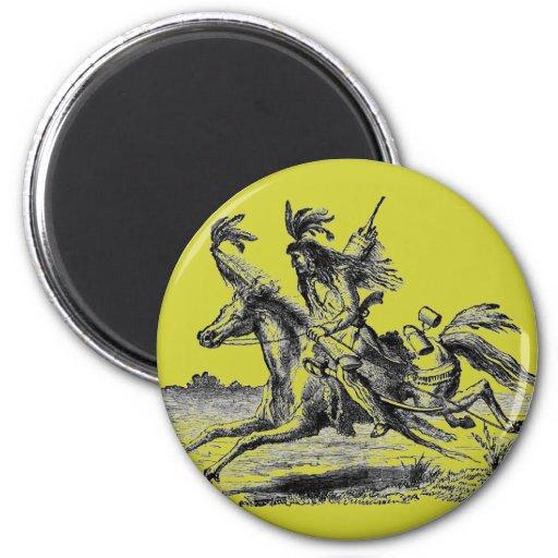 Indian Horseback Magnet