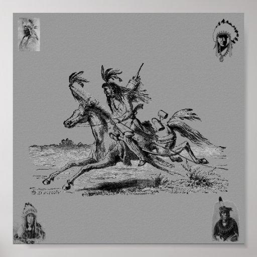 Indian Horseback Poster