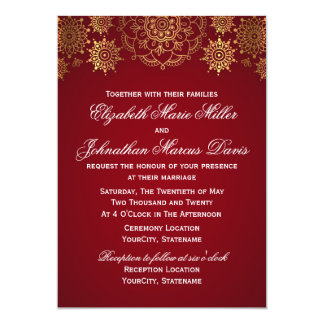 Indian Invitation, choose your color! Card