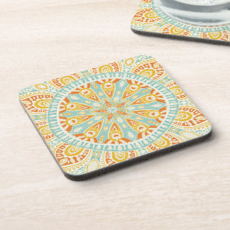 Indian Kaleidoscope Art Beverage Coasters
