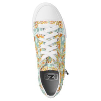 Indian Kaleidoscope Art Low Tops