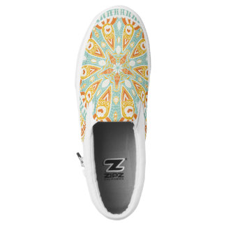 Indian Kaleidoscope Art Printed Shoes