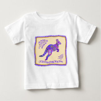 Indian Kangaroo Quilt Baby T-Shirt