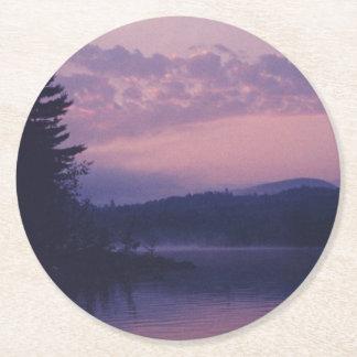 Indian Lake, Adirondack Park, NY Round Paper Coaster