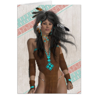 Indian Maiden All Occasion Card