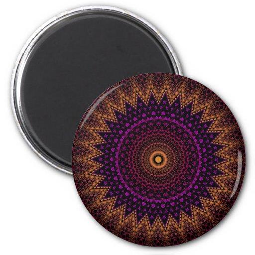 indian mehndi mandala pattern fridge magnets