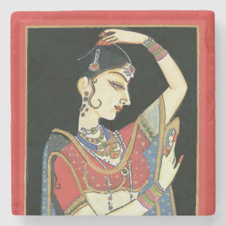 Indian, Mughal Woman, Princess Stone Coaster