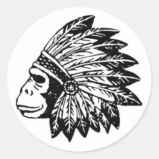 Indian Of Gorilla Classic Round Sticker