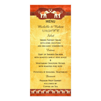 Indian or African White Elephants Wedding Menu