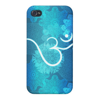 Indian ornament pattern with ohm symbol case for iPhone 4