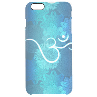 Indian ornament pattern with ohm symbol clear iPhone 6 plus case