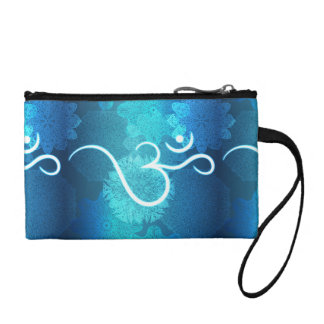 Indian ornament pattern with ohm symbol coin purse