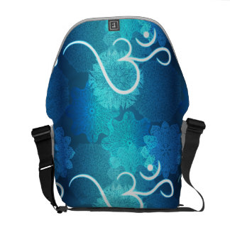 Indian ornament pattern with ohm symbol courier bag