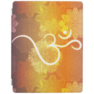 Indian ornament pattern with ohm symbol iPad cover