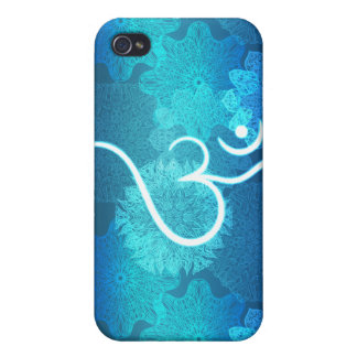 Indian ornament pattern with ohm symbol iPhone 4 case