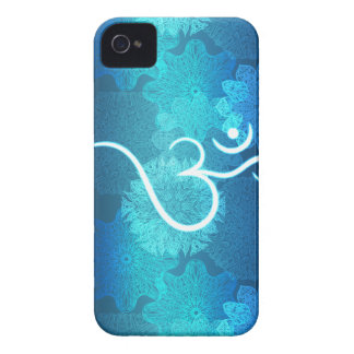 Indian ornament pattern with ohm symbol iPhone 4 Case-Mate case