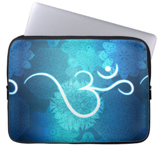 Indian ornament pattern with ohm symbol laptop sleeve