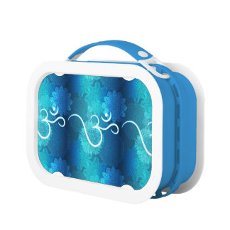 Indian ornament pattern with ohm symbol lunch box