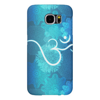 Indian ornament pattern with ohm symbol samsung galaxy s6 cases