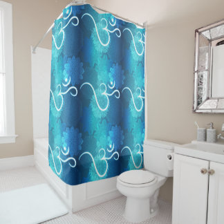Indian ornament pattern with ohm symbol shower curtain