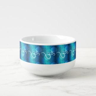 Indian ornament pattern with ohm symbol soup mug