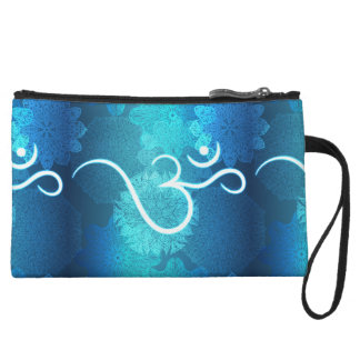 Indian ornament pattern with ohm symbol wristlet