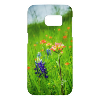 Indian Paintbrush and Bluebonnets Samsung Cases