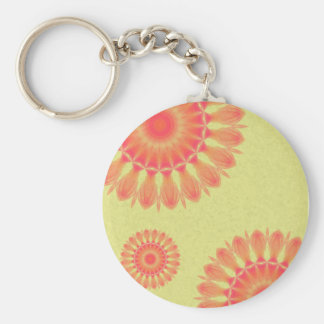 Indian Paintbrush Basic Round Button Key Ring
