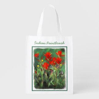 Indian Paintbrush Painting - Original Flower Art Reusable Grocery Bag