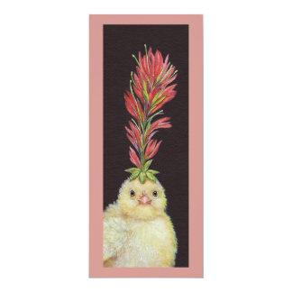 "Indian Paintbrush Peep flat card 4"" X 9.25"" Invitation Card"