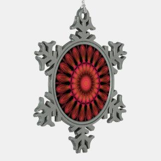 Indian Paintbrush Pewter Snowflake Decoration