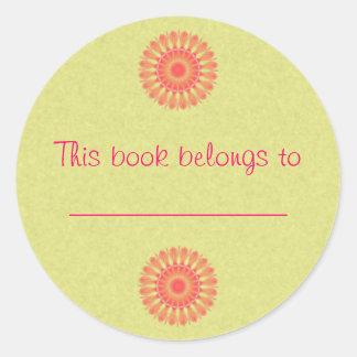 Indian Paintbrush Round Sticker