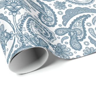 Indian Paisley Damask Repeating 13 -Wrapping Paper