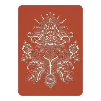 Indian Paisley - Invitation Card