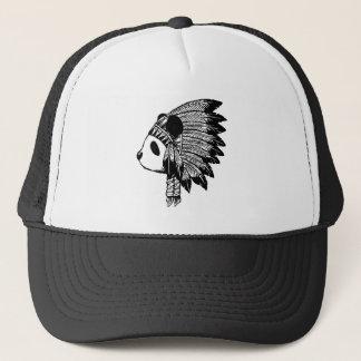 Indian panda trucker hat