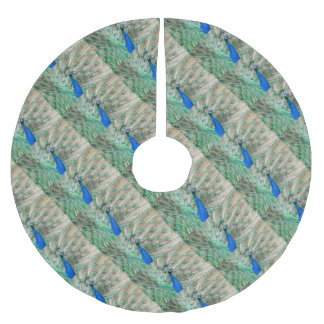 Indian Peacock Brushed Polyester Tree Skirt