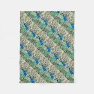 Indian Peacock Fleece Blanket