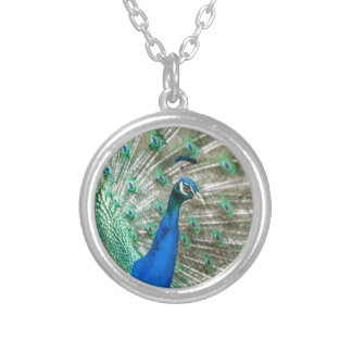 Indian Peacock Silver Plated Necklace