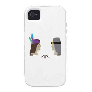 Indian Pilgrim Heads iPhone 4/4S Cases