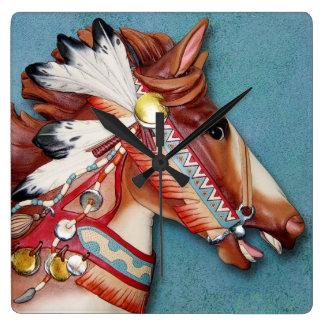 Indian Pony clock