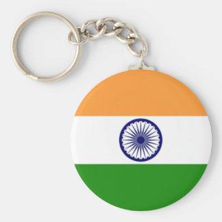 Indian pride basic round button key ring