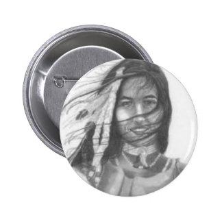 Indian Princess 6 Cm Round Badge